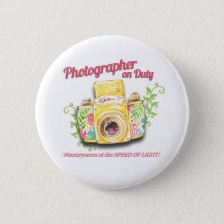 Bóton Redondo 5.08cm Fotógrafo no design da câmera do vintage do dever