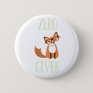 Bóton Redondo 5.08cm Fox engraçado dado Fox zero do animal