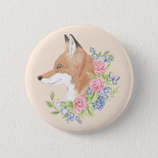 Bóton Redondo 5.08cm Fox floral