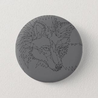 Bóton Redondo 5.08cm Fox, Fox original, pontos e linhas, Pin cinzento