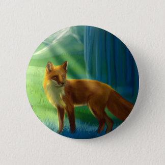 Bóton Redondo 5.08cm Fox na floresta
