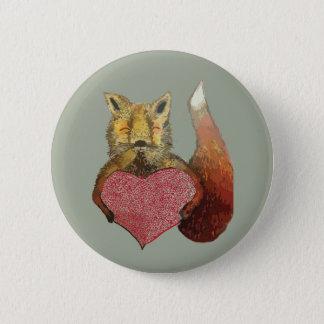 Bóton Redondo 5.08cm Foxy no crachá do amor