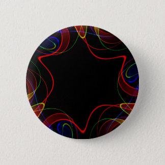Bóton Redondo 5.08cm Fractal #2 do arco-íris