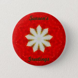 Bóton Redondo 5.08cm Fractal da estrela do White Christmas