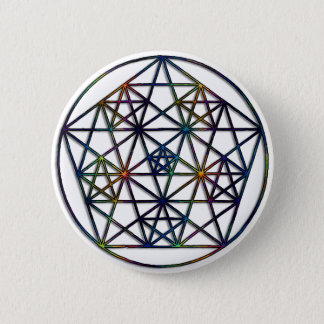Bóton Redondo 5.08cm Fractal sagrado da geometria da abundância da vida