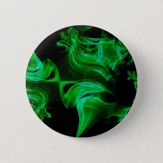 Bóton Redondo 5.08cm Fractal verde do cetim