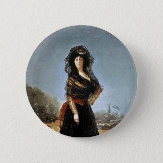 Bóton Redondo 5.08cm Francisco Goya- a duquesa de alba