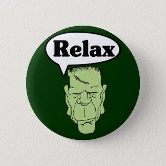 Bóton Redondo 5.08cm Frankenstein relaxa o botão