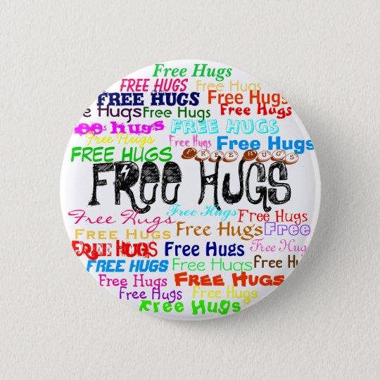 Bóton Redondo 5.08cm Free Hugs