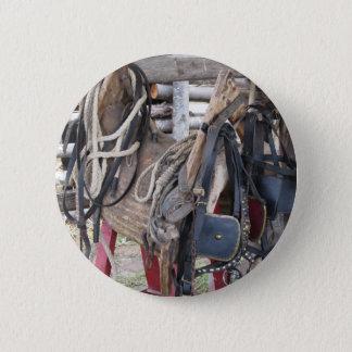 Bóton Redondo 5.08cm Freios e bocados de couro gastos do cavalo