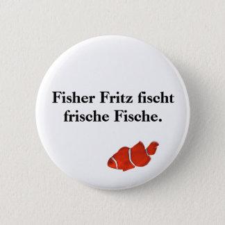 Bóton Redondo 5.08cm Frische Fische. do fischt de Fisher Fritz