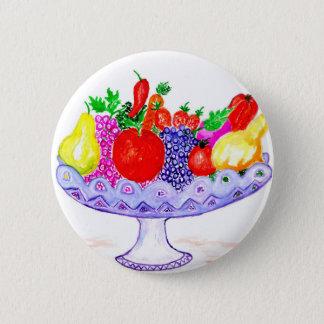Bóton Redondo 5.08cm Fruta na arte do vaso