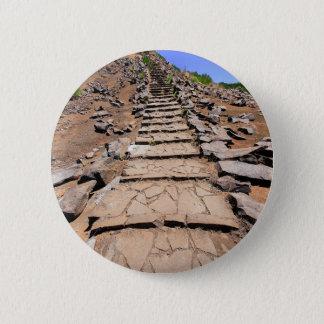 Bóton Redondo 5.08cm Fuga de caminhada que conduz a montanha em Madeira