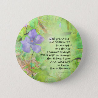 Bóton Redondo 5.08cm Fulgor do Vinca da oração da serenidade