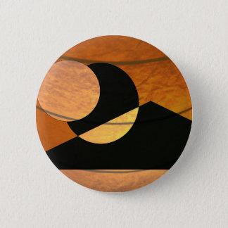 Bóton Redondo 5.08cm Fulgor dos planetas, preto e cobre, design gráfico