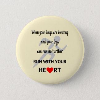 Bóton Redondo 5.08cm Funcione com sua motivação dos esportes do coração