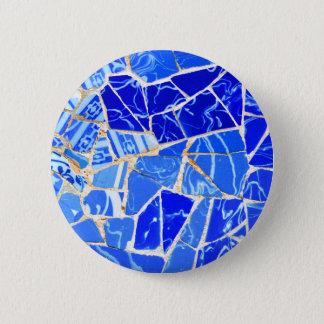 Bóton Redondo 5.08cm Fundo azul abstrato
