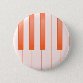 Bóton Redondo 5.08cm Fundo chave do piano