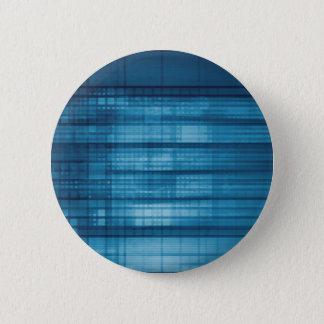 Bóton Redondo 5.08cm Fundo do mosaico da tecnologia como uma arte do