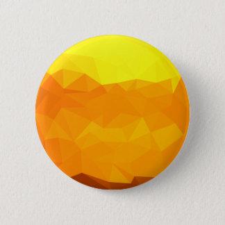 Bóton Redondo 5.08cm Fundo do polígono do abstrato do amarelo do Cyber