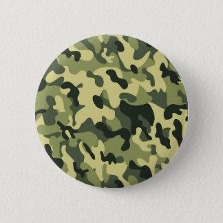 Bóton Redondo 5.08cm Fundo verde do teste padrão da camuflagem do preto