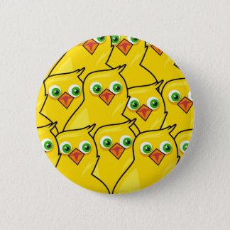 Bóton Redondo 5.08cm Galinhas amarelas brilhantes bonitas da páscoa