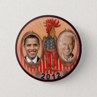 Bóton Redondo 5.08cm Galo 2012 de Obama Biden