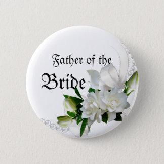 Bóton Redondo 5.08cm Gardenias do casamento