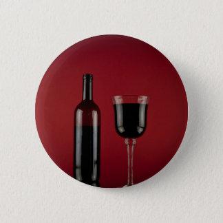 Bóton Redondo 5.08cm Garrafa de vidro de vermelho de vinho