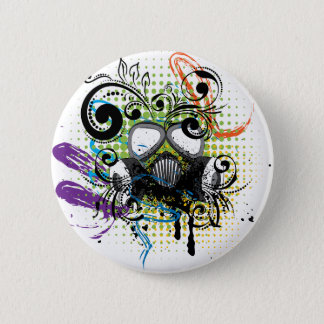 Bóton Redondo 5.08cm Gás floral Mask2 do Grunge