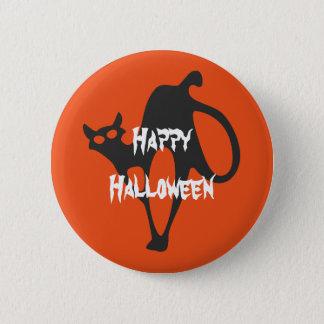 Bóton Redondo 5.08cm Gato assustador feliz do Dia das Bruxas
