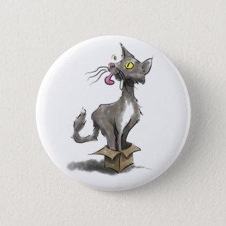 Bóton Redondo 5.08cm Gato na caixa