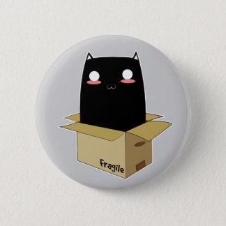 Bóton Redondo 5.08cm Gato preto em uma caixa