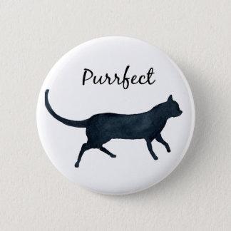 """Bóton Redondo 5.08cm Gato preto """"purrfect """""""