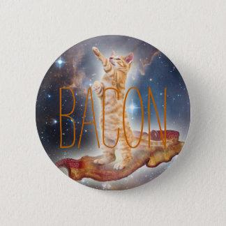 Bóton Redondo 5.08cm Gato surfando do bacon