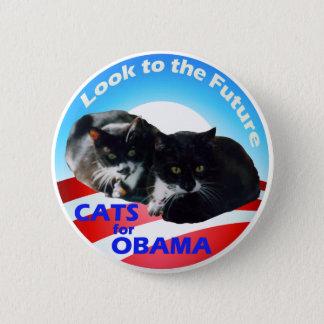 Bóton Redondo 5.08cm Gatos para Obama