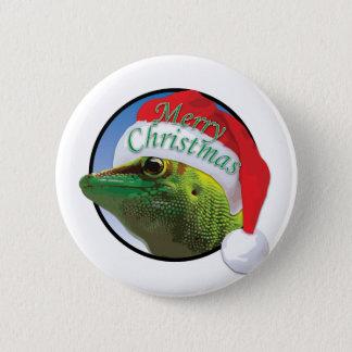 Bóton Redondo 5.08cm Geco do Natal - padrão, botão redondo da polegada