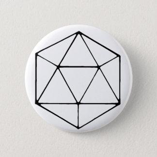 Bóton Redondo 5.08cm Geek minimalista do Gamer do Tabletop do design
