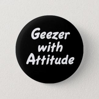 Bóton Redondo 5.08cm Geezer com botão da atitude