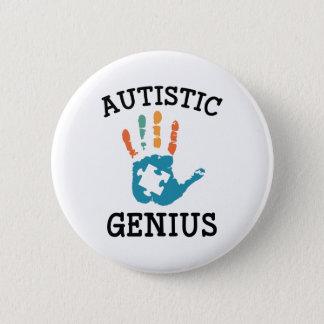 Bóton Redondo 5.08cm Gênio autístico