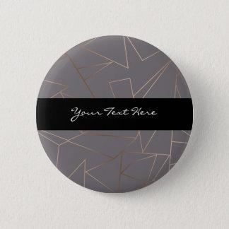 Bóton Redondo 5.08cm Geométrico minimalista moderno elegante do ouro
