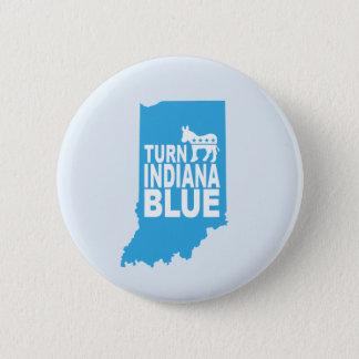 Bóton Redondo 5.08cm Gire Indiana que o botão progressivo azul  