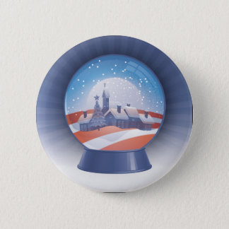 Bóton Redondo 5.08cm globo da neve de obama