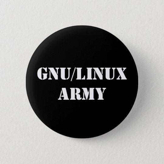 Bóton Redondo 5.08cm GNU/Linux Army