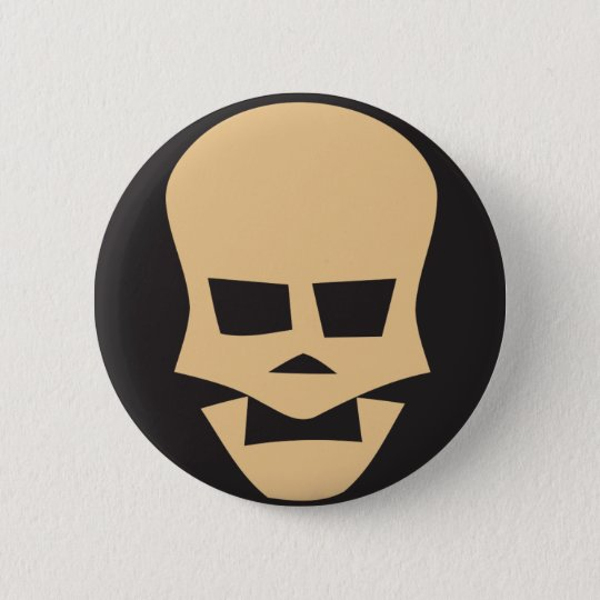 Bóton Redondo 5.08cm Golden skull
