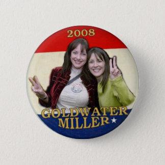 Bóton Redondo 5.08cm Goldwater 2008/botão de Miller