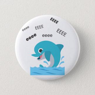 Bóton Redondo 5.08cm Golfinho Emoji bonito de Eeee