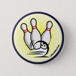 Bóton Redondo 5.08cm Golpeie o botão dos pinos de boliche