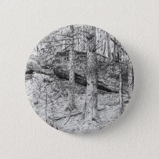 Bóton Redondo 5.08cm Gráfico Carpathian da floresta