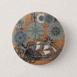 Bóton Redondo 5.08cm Gráfico náutico do impressão da arte da navigação